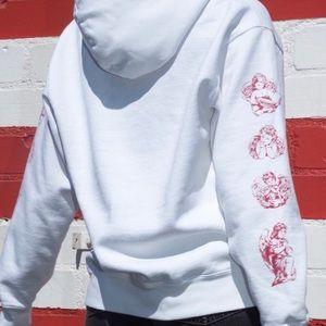 Brandy Melville cherub sleeve hoodie